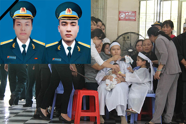 Đẫm lệ lễ tang 2 phi công hy sinh trong vụ máy bay rơi ở Khánh Hòa