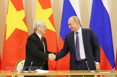 Tổng bí thư, Chủ tịch nước trao đổi điện mừng với Tổng thống Nga Putin