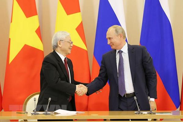 Tổng bí thư,Chủ tịch nước,Nguyễn Phú Trọng,Việt-Nga