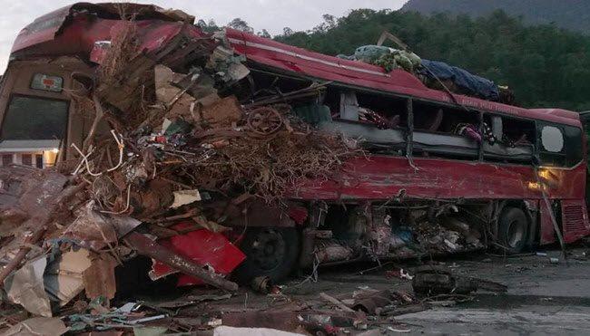 Head-on collision kills four, injures 38