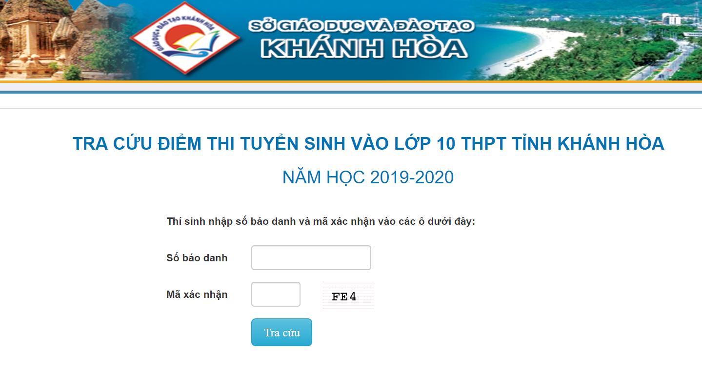 Khánh Hòa chính thức công bố điểm thi vào lớp 10 năm 2019
