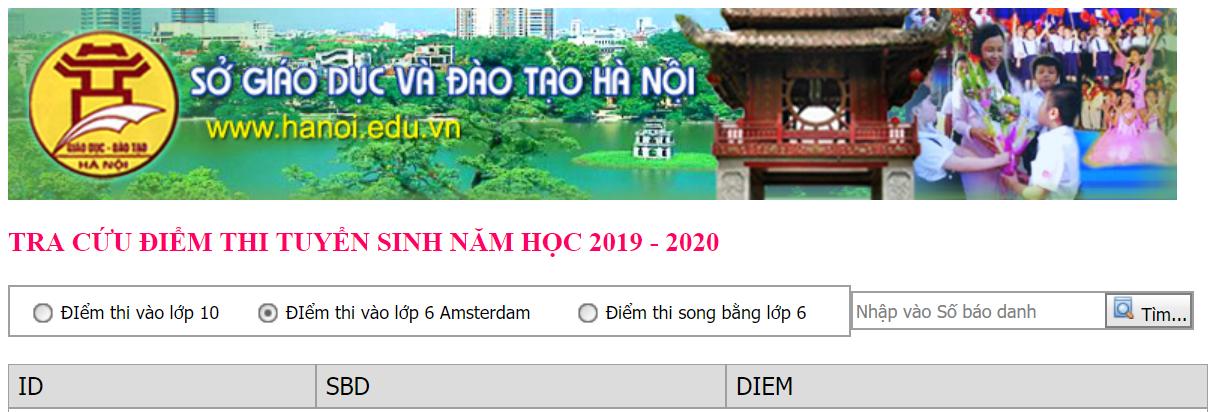 Trường THPT chuyên Hà Nội - Amsterdam công bố điểm thi vào lớp 6