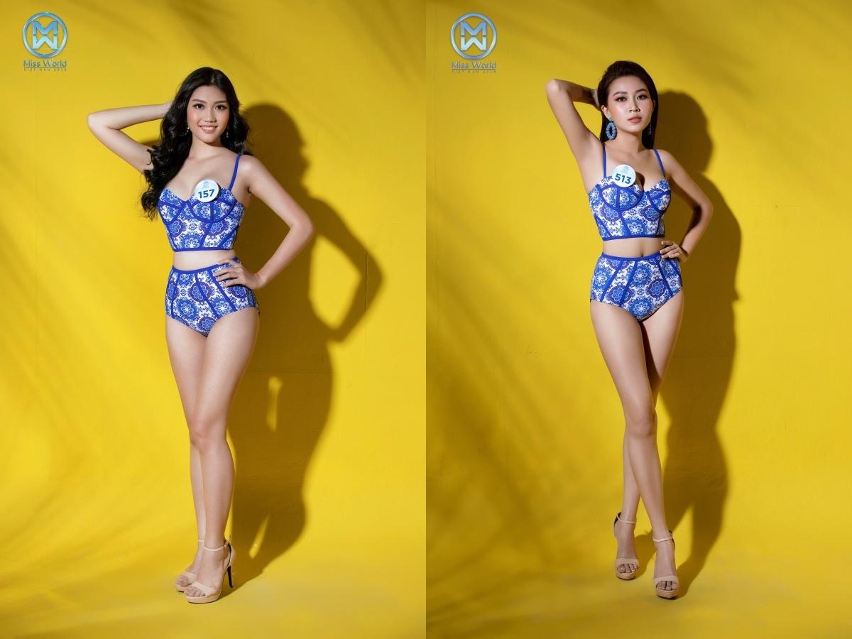 Dàn thí sinh Miss World Việt Nam diện bikini nóng bỏng