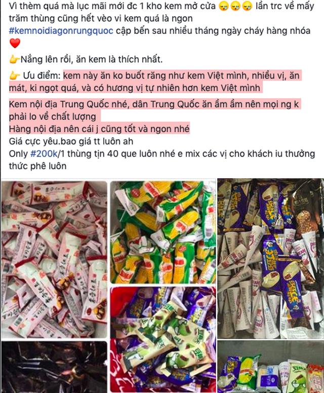 kem Trung Quốc,kem siêu rẻ,kem,hàng Trung Quốc
