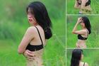 Diễn viên nude dưới hồ sen lại bị chỉ trích vì chụp phản cảm ở đồng cỏ