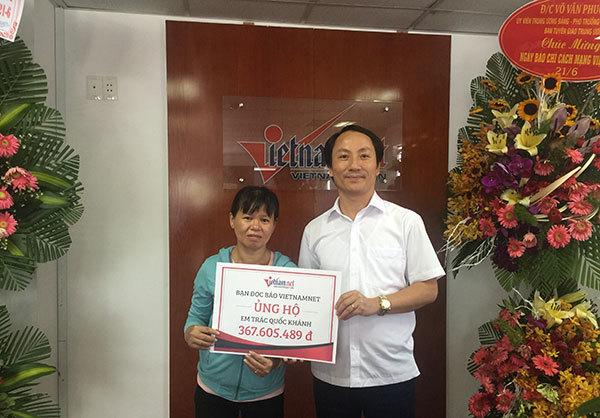 Trao hơn 367.605.489đ cho bé Trác Quốc Khánh