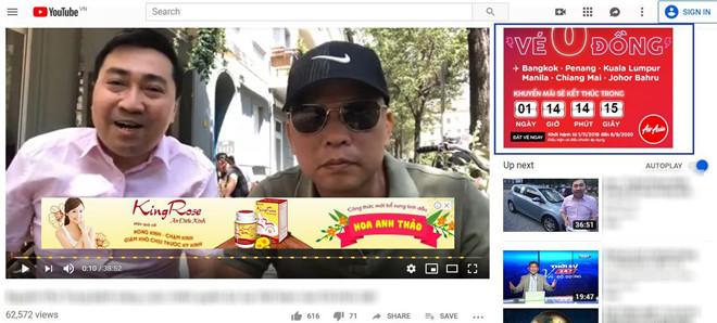 Thêm 40 doanh nghiệp ở VN quảng cáo trên video YouTube xấu độc