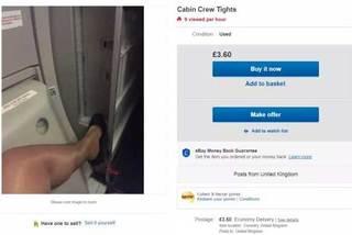 Tiếp viên hàng không bán tất cũ để thêm thu nhập