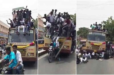 Xe buýt phanh gấp, hơn 30 sinh viên ngã từ nóc xe xuống đường