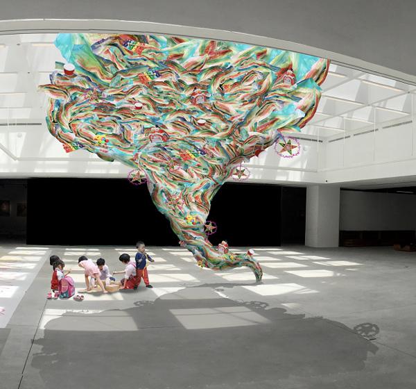 nghệ thuật đương đại,nhựa,ni long