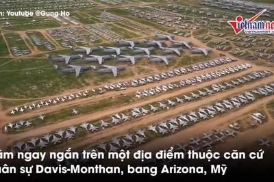 Đột nhập nghĩa địa máy bay quân sự lớn nhất thế giới tại Mỹ