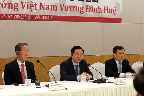 Phó Thủ tướng,Vương Đình Huệ,Hàn Quốc