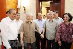 Tổng bí thư chủ trì họp Bộ Chính trị, phê duyệt quy hoạch TƯ khoá 13