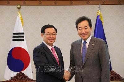 Phó Thủ tướng Vương Đình Huệ hội kiến Thủ tướng và Chủ tịch QH Hàn Quốc