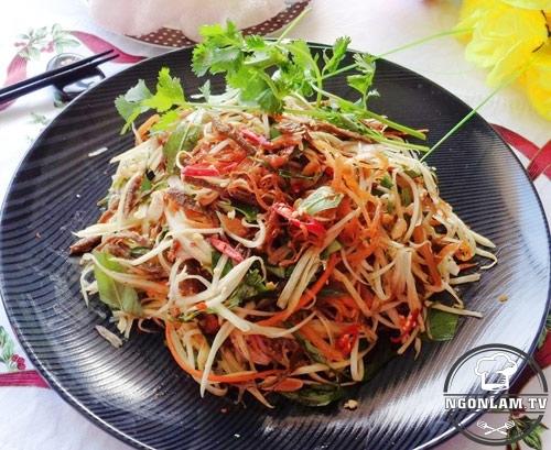 Nom bo kho – one of the best street foods in Hanoi