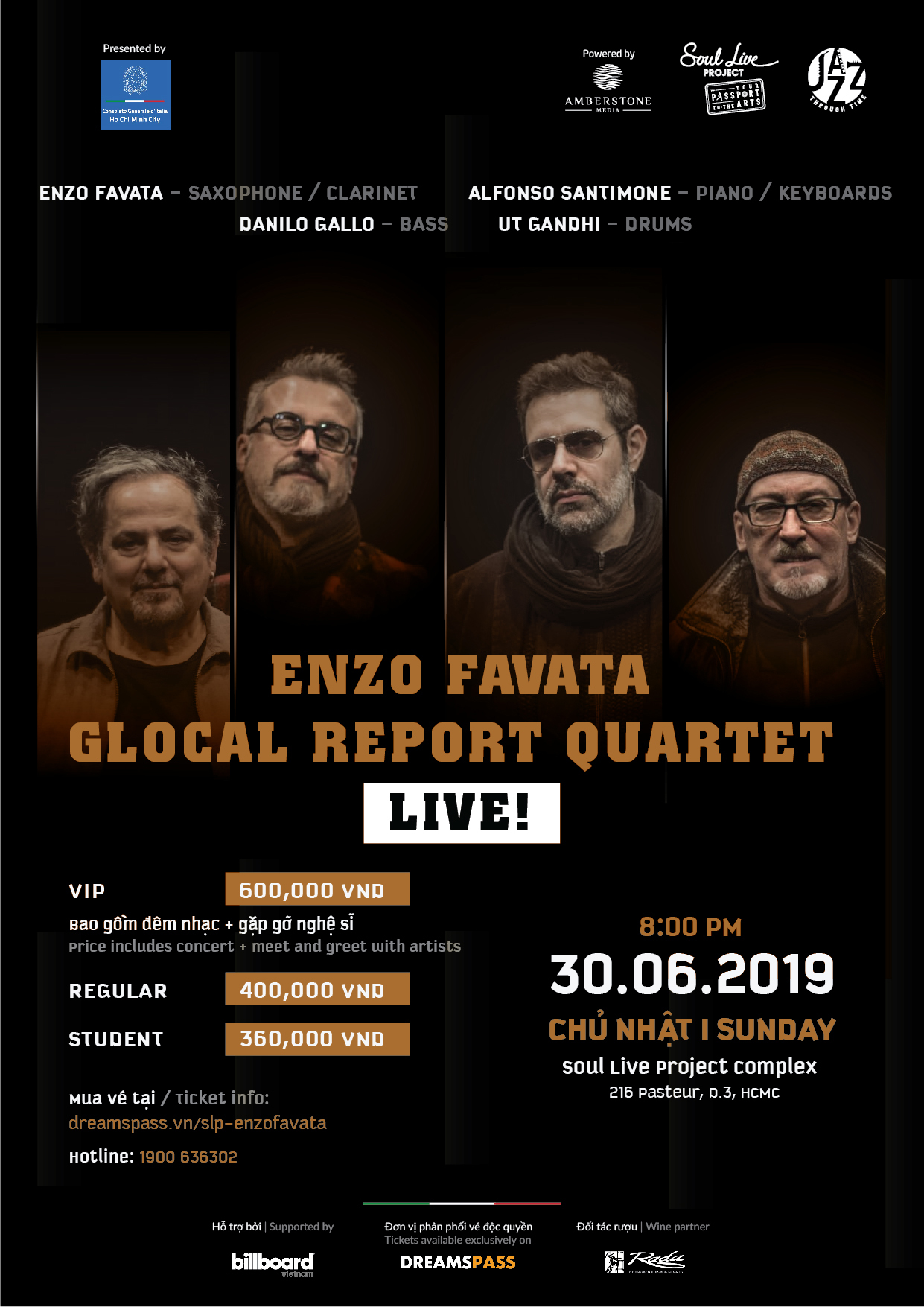 World-renowned Italian saxophonist Enzo Favata to join SPYO's concert in HCM City