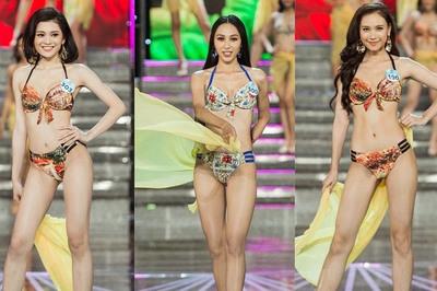 Thí sinh Hoa hậu Thế giới Việt Nam 2019 diện bikini khoe vóc dáng gợi cảm
