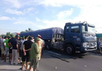 Xe container cán chết cụ ông 71 tuổi ở Hà Tĩnh