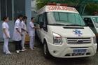 Xe cấp cứu đưa nữ sinh Sài Gòn vừa mổ ruột thừa đến điểm thi THPT quốc gia