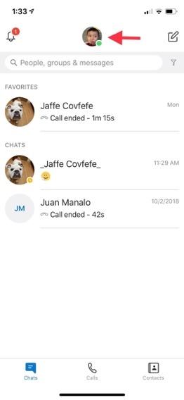 Skype,chế độ tối,Dark mode,iOS,Android