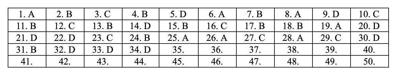 Đáp án tham khảo môn Toán thi THPT quốc gia 2019 tất cả mã đề