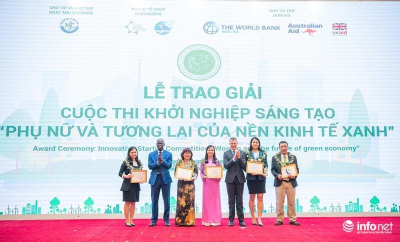 Trao giải cuộc thi khởi nghiệp sáng tạo 'Phụ nữ và tương lai của nền kinh tế xanh'