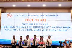 TP.HCM triển khai mô hình 'phòng họp không giấy'