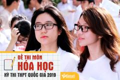 Đề thi THPT quốc gia môn Hóa học năm 2019