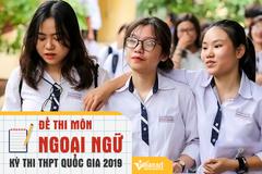 Đề thi THPT quốc gia môn Tiếng Anh năm 2019