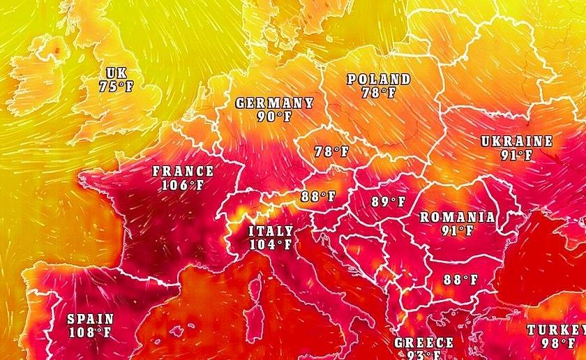 Nắng nóng chết người đe doạ châu Âu