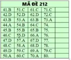 Lời giải tham khảo môn Hóa học thi THPT quốc gia 2019 mã đề 212