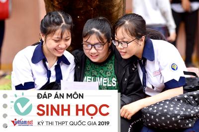 Đáp án tham khảo môn Sinh học thi THPT quốc gia 2019 mã 215