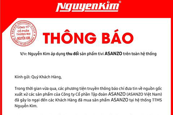 Asanzo,Phạm Văn Tam,hàng trung quốc