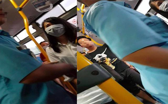 Lại bắt quả tang nam thanh niên tự sướng trên xe buýt ở Hà Nội
