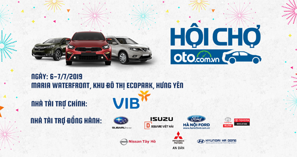 Hội chợ Oto.com.vn- sự kiện lái thử và mua bán xe lớn nhất miền Bắc