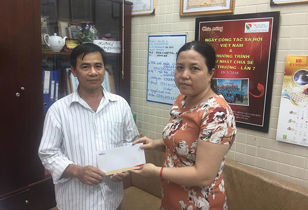 Trao hơn 257 triệu đồng cho Nguyễn Quốc Vinh