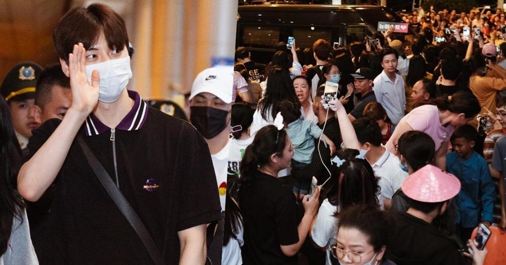 Fan la hét đón 5 mỹ nam NU'EST đến Việt Nam lúc nửa đêm