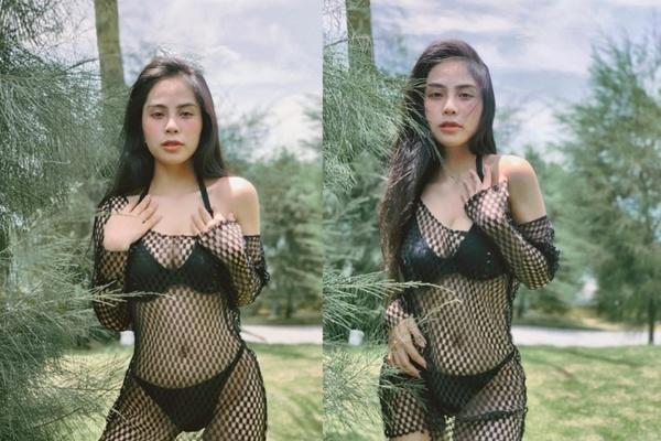 Minh Triệu thả rông vòng một, ca nương Kiều Anh diện bikini táo bạo