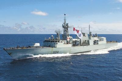 Tiêm kích TQ áp sát tàu chiến Canada vừa thăm Việt Nam