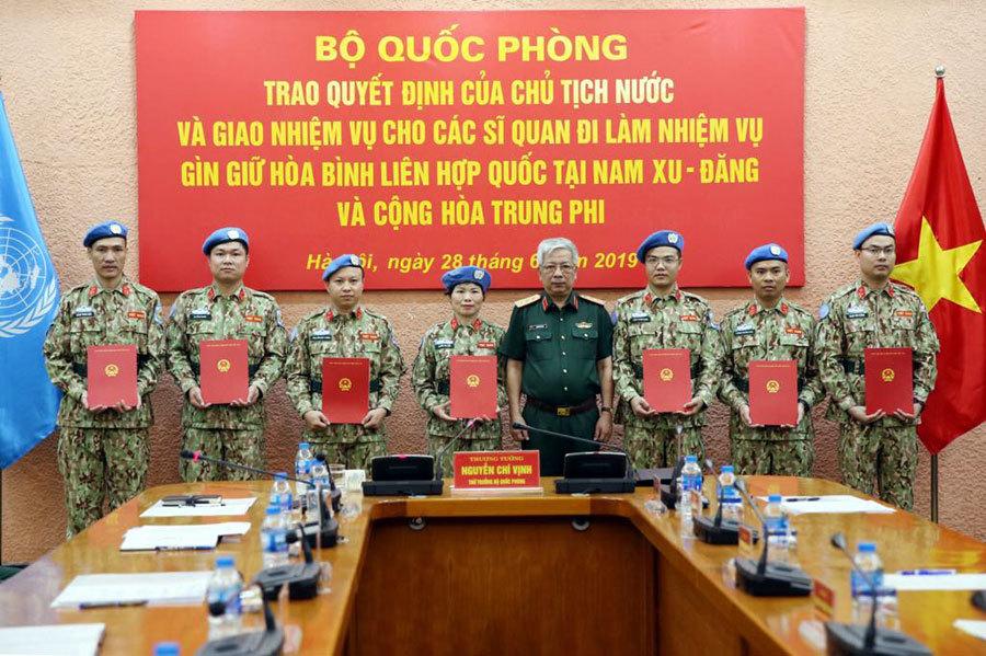 gìn giữ hòa bình,liên hợp quốc,mũ nồi xanh,Bộ Quốc phòng