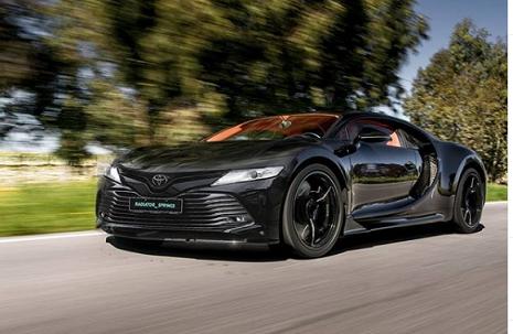 Kỳ lạ Bugatti Chiron 'độ' đầu Toyota Camry 2019