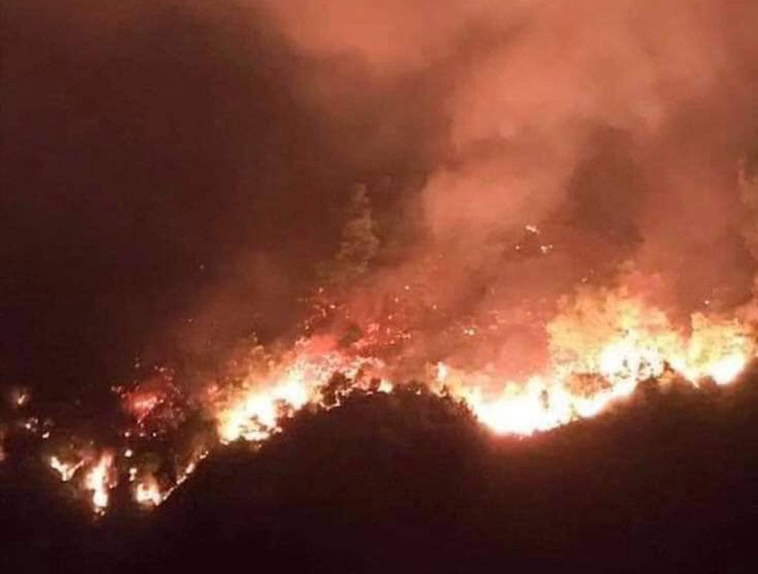 Cháy rừng lớn nhất ở Hà Tĩnh, nghìn người xuyên đêm dập lửa