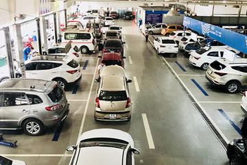 Không gian trưng bày xe đẳng cấp ở Huyndai Kinh Dương Vương