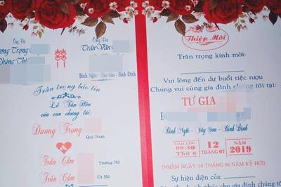 Cô giáo 'chế' thiệp chú rể cưới hai chị em ruột ở Bình Định: Tôi rất hối hận
