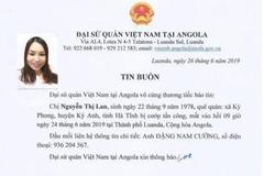 Nữ lao động Hà Tĩnh bị cướp bắn chết ở Angola