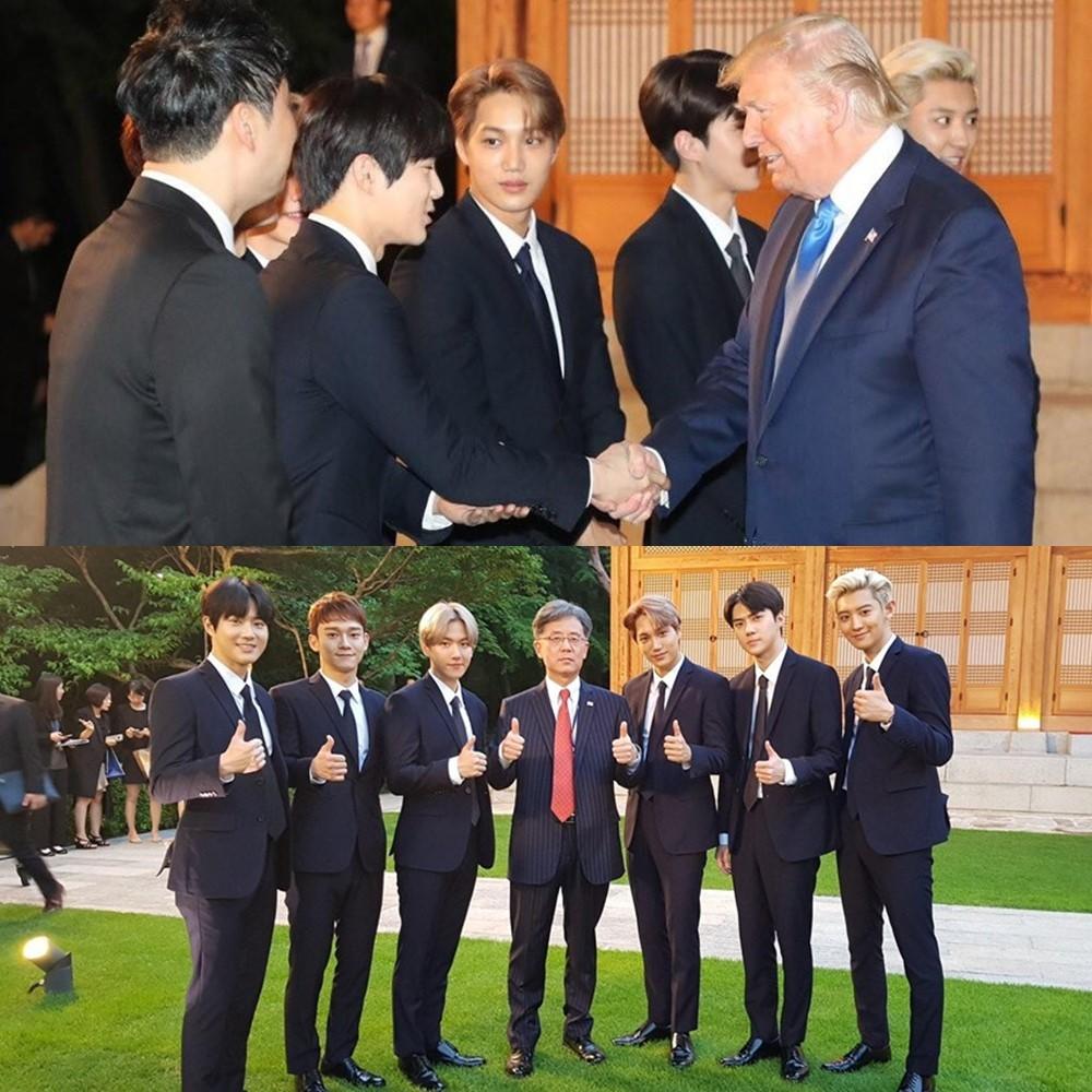 EXO được mời đến Nhà Xanh đón Tổng thống Donald Trump