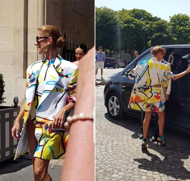 51 tuổi, Celine Dion tự tin mặc đồ như bikini dạo phố Paris