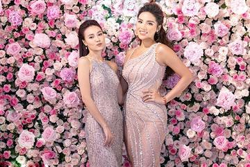 Kỳ Duyên diện váy xẻ sâu đọ dáng cùng Ninh Dương Lan Ngọc