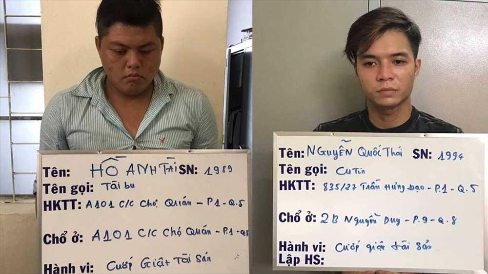 Băng nhóm Tài 'bu' gây 30% vụ cướp ở trung tâm Sài Gòn sa lưới