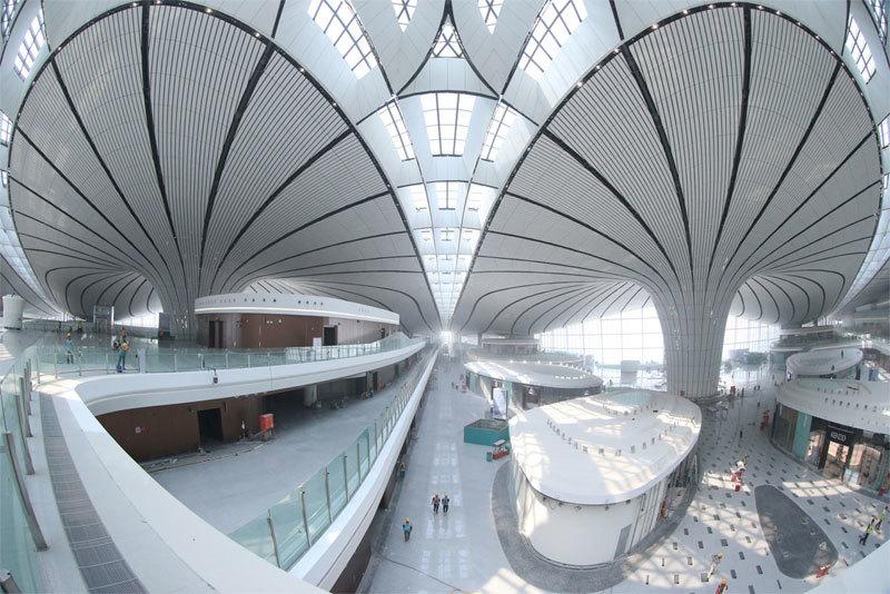 Xem 'hình thù' sân bay lớn nhất thế giới Trung Quốc vừa hoàn thành